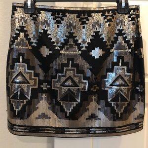 Express Mini Sequin skirt